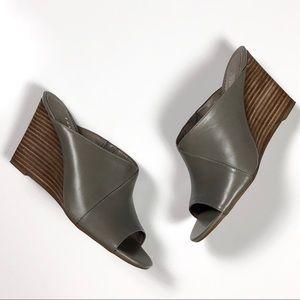 Franco Sarto Filigree Leather Wedge Sandal